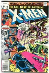 X-MEN #110 1977-comic book-rare UK PENCE variant- FN
