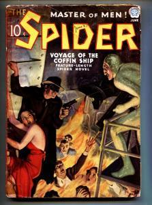 Spider June 1937-Hooded menace GGA cover-Hero-Pulp Magazine
