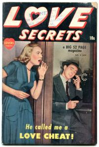 Love Secrets #2 1950-Love Cheat- Spicy Marvel Golden Age Romance G+