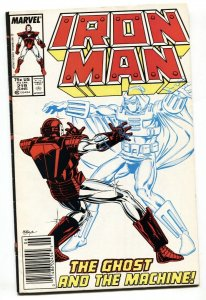 IRON MAN #219 1st THE GHOST-1987-MARVEL-Newsstand variant