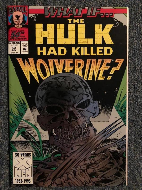 What If # 50 ( Hulk kills Wolverine ) Silver Foil, Never Read NM+