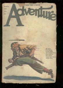 ADVENTURE PULP-MAR 10 1923-PEG LEG PIRATE COVER-SURDEZ-fair/good-RARE FR/G