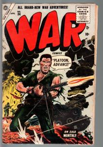 WAR #34-1955-RUSS HEATH COVER-ATLAS-VG VG