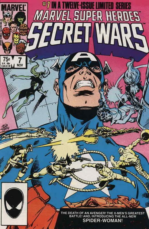 Marvel Super Heroes Secret Wars #7 FN; Marvel | save on shipping - details insid