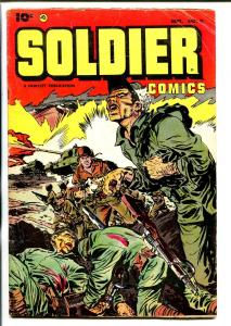 SOLDIER #11 1953-FAWCETT-FINAL ISSUE-BLOODY-KOREAN WAR-VIOLENCE-COMMIES-vg