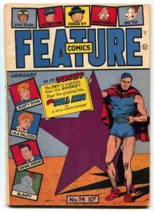 Feature Comics #74 1944- DOLL MAN- Rusty Ryan VG