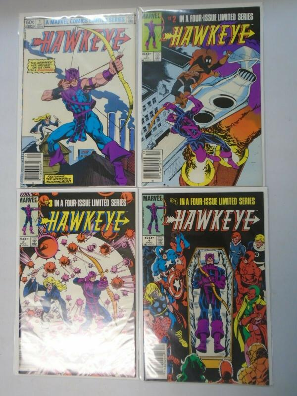Hawkeye set #1-4 6.0 FN (1983 1st Series)