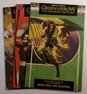 GREEN ARROW: THE LONGBOW HUNTERS  #1-3 MIKE GRELL 1987 DC COMICS NM