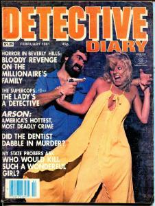 Detective Diary 2/1981-Charlton-spicy-handgun-supercops-arson-VG