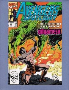 Avengers Spotlight #35 NM- Marvel 1990