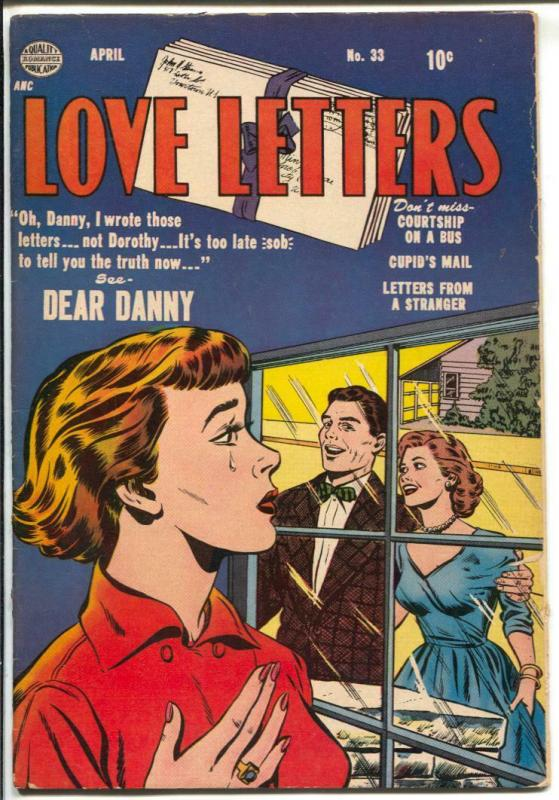 Love Letters #33 1954--headlights-spicy imagery-Ogden Whitney-VG+