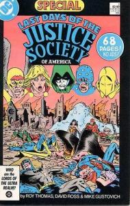 Last Days of the Justice Society Special #1, VF+ (Stock photo)
