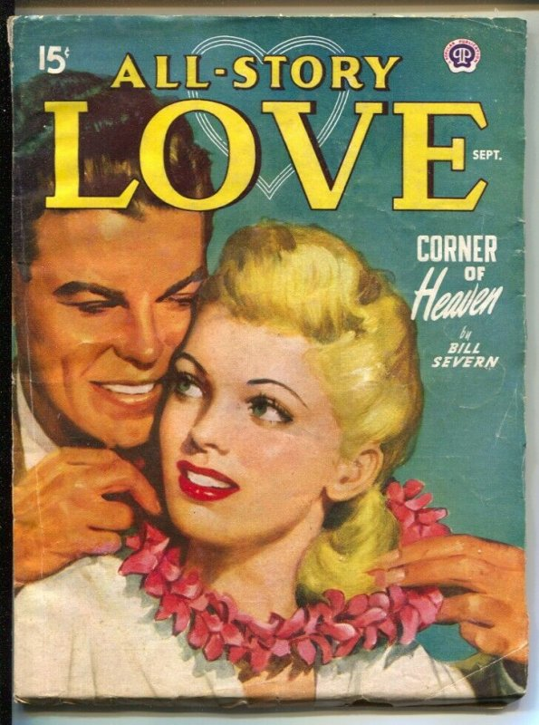 All Story Love 9/1948-pin-up girl cover-female pulp fiction authors-VG
