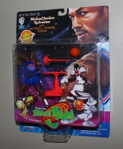 Michael Jordan Space Jam: Michael Jordan & Sylvester Figure MOC  1996