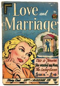 LOVE AND MARRIAGE #2-1952-SUPERIOR-LINGERIE SCENES-headlights