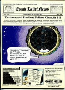 Comic Relief #11 1990-Calvin & Hobbes-political cartoons-Toles-Doonesbury-FN/VF