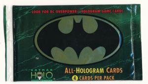 Batman ALL-HOLOGRAM Cards Sealed Pack 1996 Skybox (4 card pack) (H9)