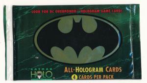 Batman ALL-HOLOGRAM Cards Sealed Pack 1996 Skybox (4 card pack) (H9)