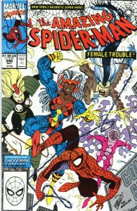 Amazing Spiderman issue #340 Marvel Comics 1990 Femme Fatales 1st team appearanc