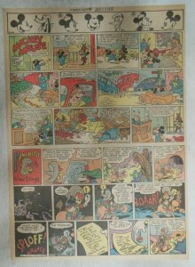 Mickey Mouse Sunday Page by Walt Disney from 1/14/1945 Tabloid Page Size
