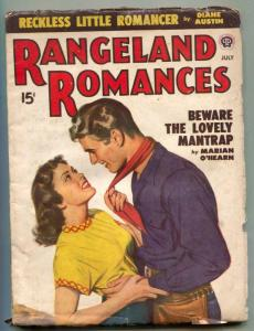 Rangeland Romances Pulp July 1949- Lovely Mantrap