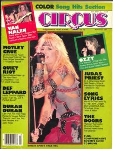 Circus 3/31/1984-Vince Meil-Motley Crue-Quiet Riot-Def Leopard-VG