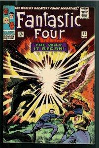FANTASTIC FOUR 53 F/VF 7.0;ORIGIN BLACK PANTHER;1st APPEARANCE KLAW!