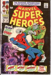 MARVEL SUPER HEROES 14 VG SPIDERMAN   May 1968 COMICS BOOK
