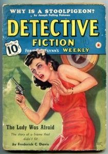 Detective Fiction Weekly Pulp August 31 1940- Lady Was Afraid G/VG