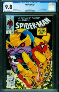 Spider-Man #17 CGC 9.8 Thanos Infinity Gauntlet cover MCU 0325853014