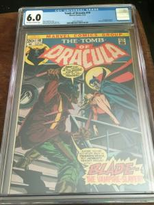 TOMB OF DRACULA #10 - CGC 6.0 - FN 1ST APP BLADE - BRONZE AGE BLUE CHIP KEY