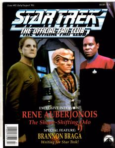 Lot Of 5 Star Trek Official Fan Club Magazines # 92 94 95 97 98 Spock Kirk J161