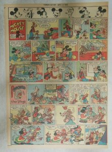 Mickey Mouse Sunday Page by Walt Disney from 4/22/1945 Tabloid Page Size