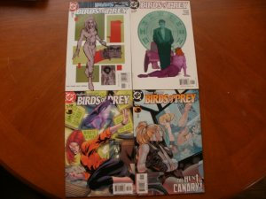 4 DC Comic: BIRDS OF PREY #39 The Gun #49 Chaotic Code #58 Like Minds #60 Canary