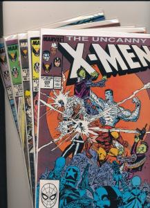 Lot of 5 ~ Marvel The Uncanny X-Men #229, 235, 236, 237, 238 F/VF (SRU014)
