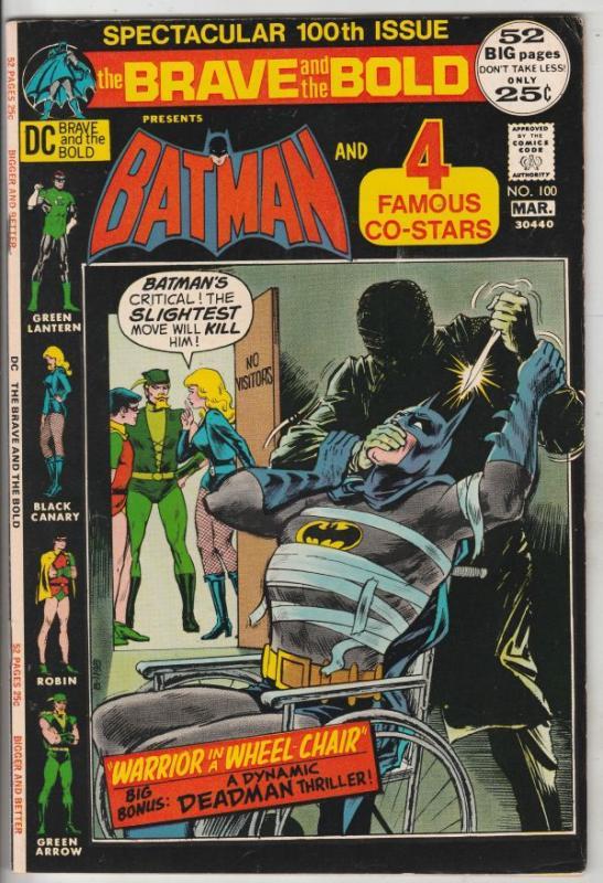 Brave and the Bold, The #100 (Mar-72) VF+ High-Grade Batman, Green Arrow, Gre...