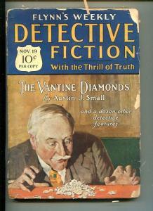 FLYNN'S WEEKLY DETECTIVE FICTION-NOV 19 1927-MYSTERY-AUSTIN J. SMALL-vg