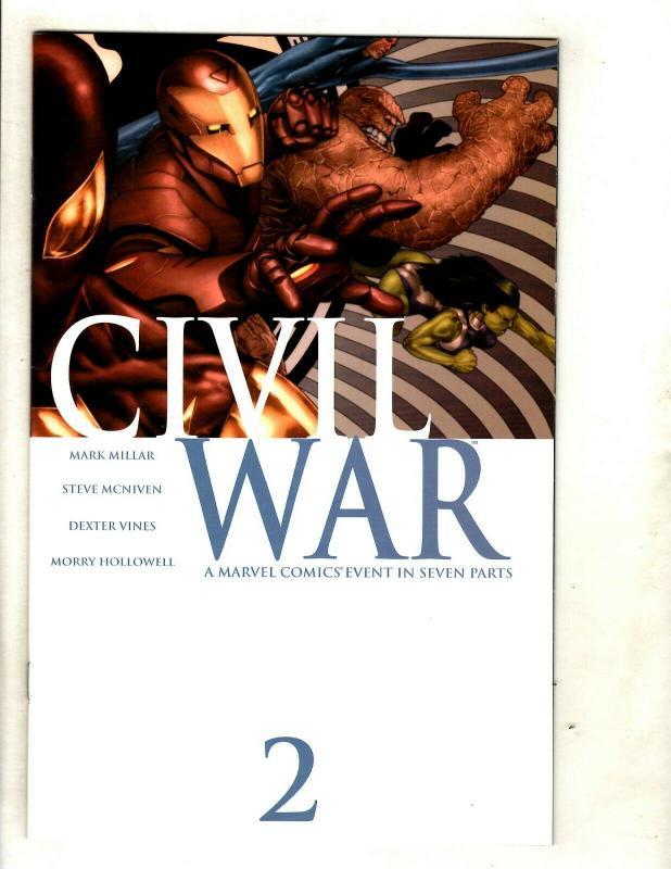 Civil War Complete Marvel Comics LTD Series # 1 2 3 4 5 6 7 NM 1st Prints SM8