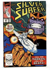 Silver Surfer #34 1990 Infinity Gauntlet Thanos Marvel INFINITY WAR