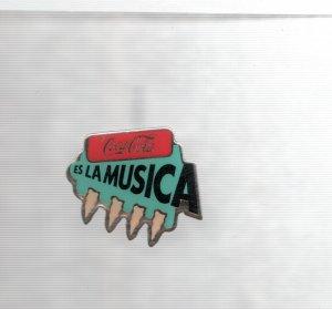 Pins: Coca Cola es la musica