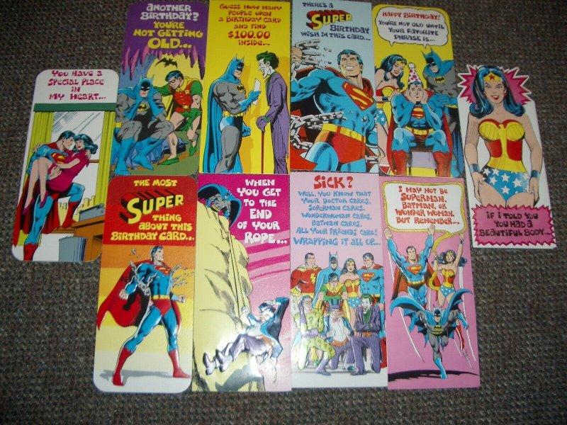 Neal Adam Superhero  Greeting card lot of 47- 1978- Batman- Superman