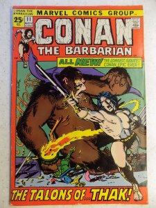 CONAN THE BARBARIAN # 11 MARVEL FANTASY BARRY SMITH SUB CREASE