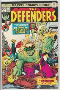Defenders, The #22 (Apr-75)  High-Grade Hulk, Dr. Strange, Valkyrie, Nighthawk