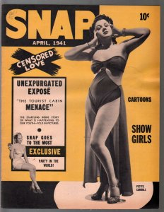 Snap #5 4/1941-5th issue-cheesecake-cartoons-Petite Carroll-Dale Evans-FN-