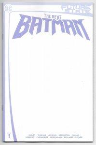 Future State Next Batman #1 Blank Sketch Variant (DC, 2021) NM