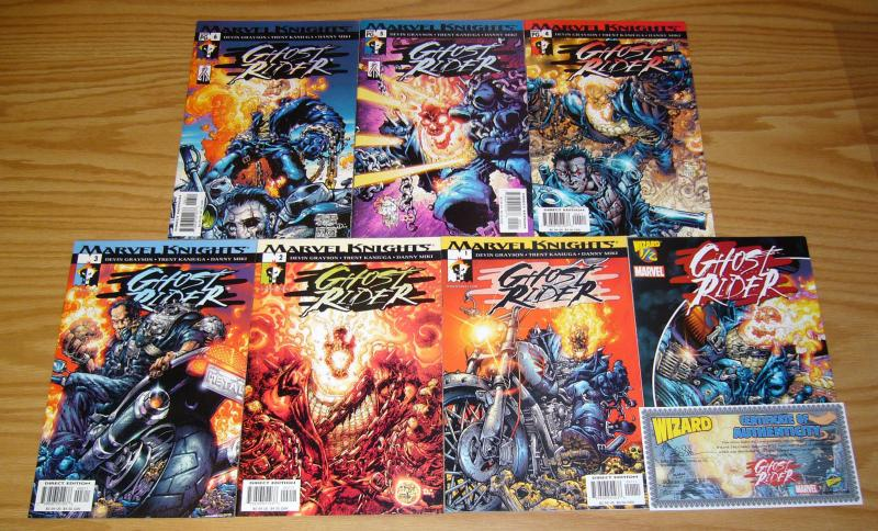 Ghost Rider #½ & 1-6 VF/NM complete series - trent kaniuga - wizard half - set