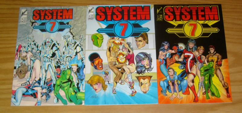 System 7 #1-3 VF/NM complete series - arrow comics - ralph griffith super heroes