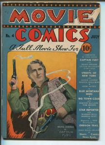 MOVIE COMICS #4 1939-GENE AUTRY-JOHNNY MACK BROWN-BARTON MACLANE-vg