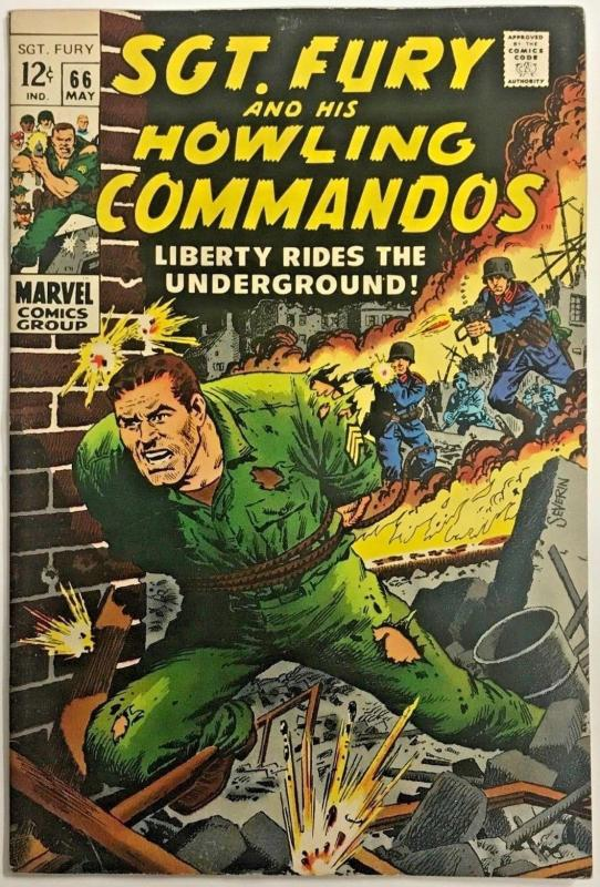 SGT. FURY#66 FN/VF 1969 MARVEL SILVER AGE COMICS
