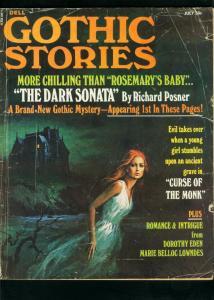 GOTHIC STORIES #5 1971-DELL PULP-DOROTHY EDEN-ROCHARD POSNER-good G